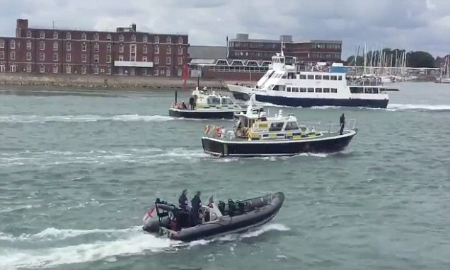 Rescue teams stood down after man jumped off Isle of Wight ferry