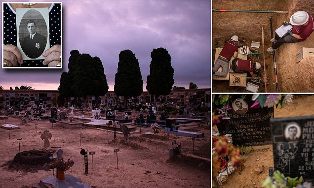 Victims of General Franco's brutal crackdown are exhumed from graves