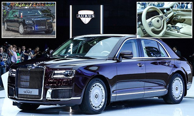 Russian carmaker unveils luxury version of Putin's armoured vehicle