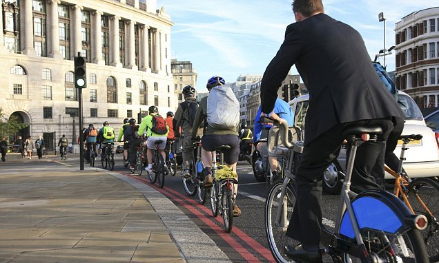 Average number of cyclists has DROPPED over road safety fears