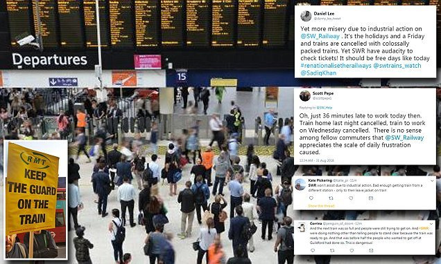 Three days of rail chaos for rail passengers as workers strike
