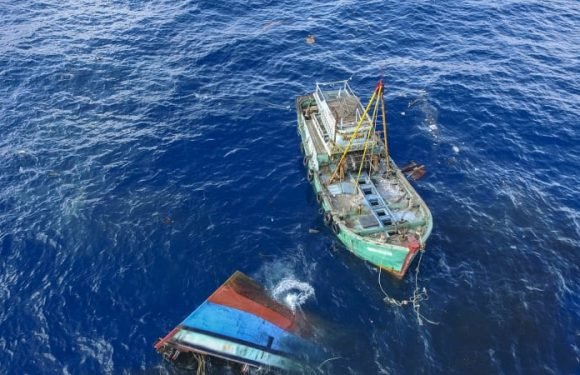 Indonesia sinks more than 100 foreign illegal fishing vessels
