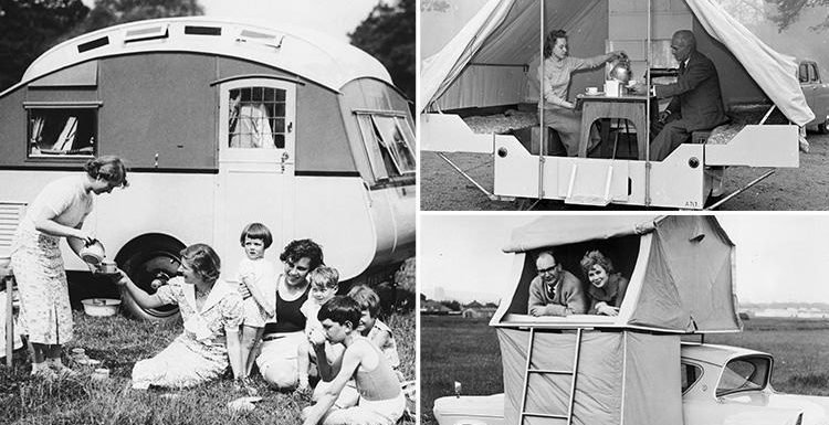 Glorious black and white photos show the great British passion for the caravan holiday