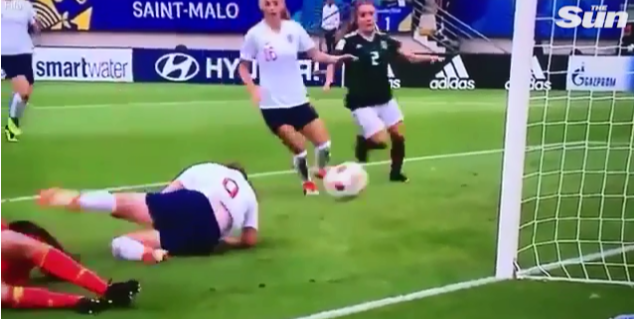 England ace Lauren Hemp scores one of the most ridiculously lucky goals ever at Under-20 World Cup