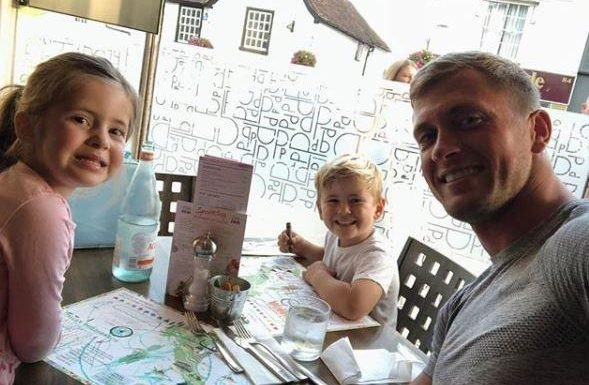 Dan Osborne enjoys final dinner with his kids before heading into hiding for Celebrity Big Brother