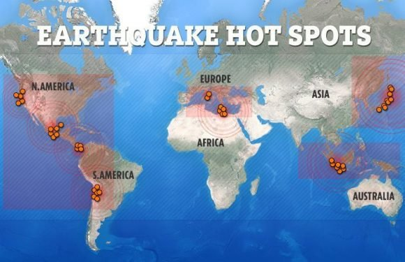 New 'MEGAQUAKE' fears as Ring of Fire is rocked by 214 earthquakes in one week