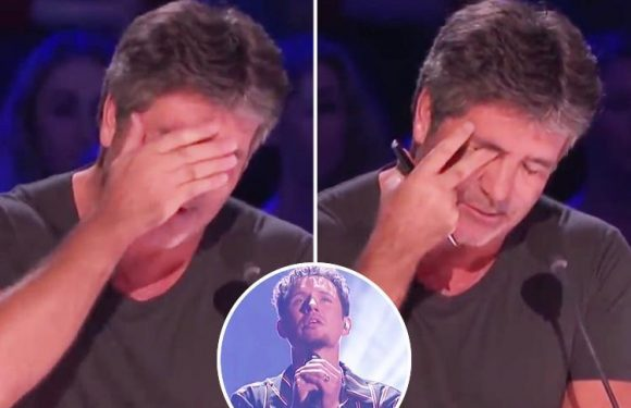 Simon Cowell bursts into tears and can barely speak after America's Got Talent contestant's emotional performance