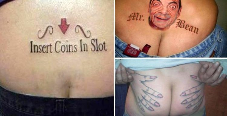 World's worst 'tramp stamp' back tattoos will make you think twice about getting inked yourself