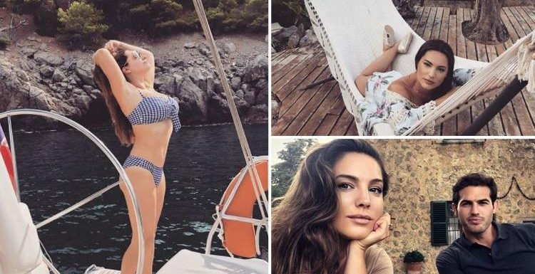 Kelly Brook relaxes in Majorca on her 13th holiday of the year