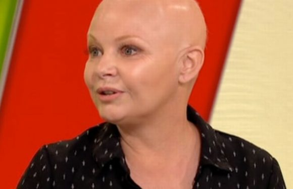 Gail Porter in tears as she appears on TV with hair for first time in ten years