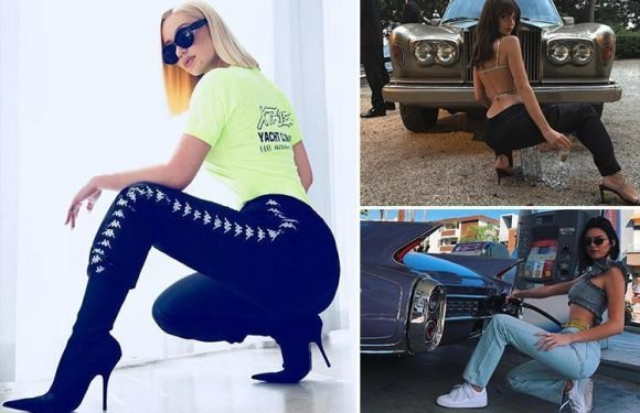 The 'hot squat' is the new Instagram pose Megan McKenna, Kylie Jenner and Emily Ratajkowski are loving (and it'll help tone your tum)