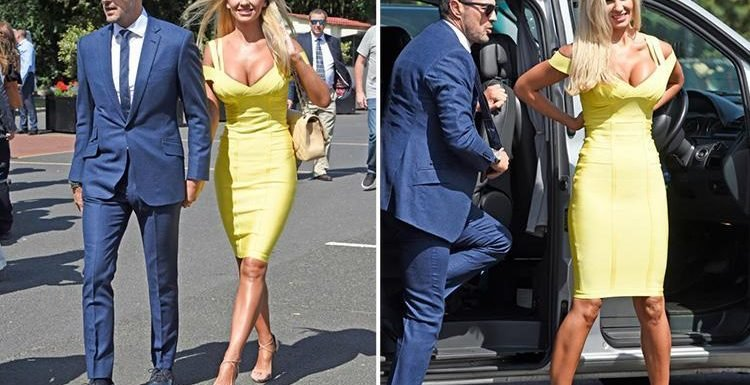 Christine McGuinness stuns in yellow dress as she enjoys rare date with husband Paddy at the races