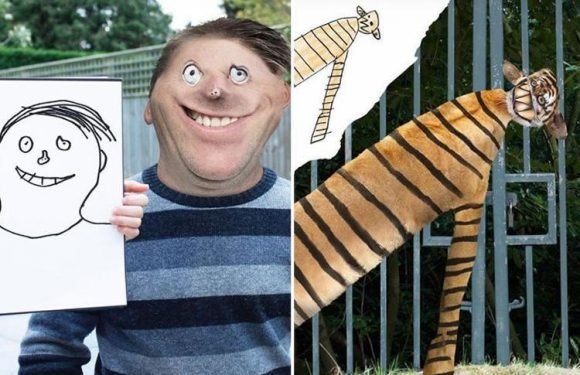 Dad uses Photoshop to transform his children's drawings into reality… and the results are brilliant