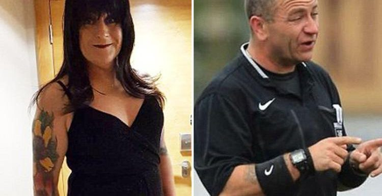 Football's first ever transgender referee takes to the pitch – and says some will be shocked when she runs on
