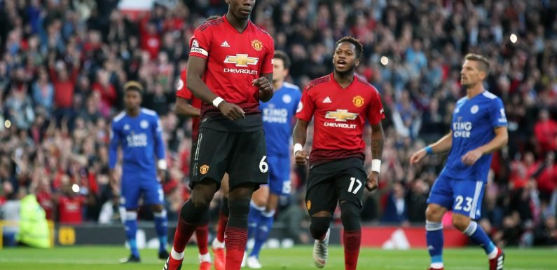 Paul Pogba's incredible penalty run-up against Leicester sends Twitter into meltdown