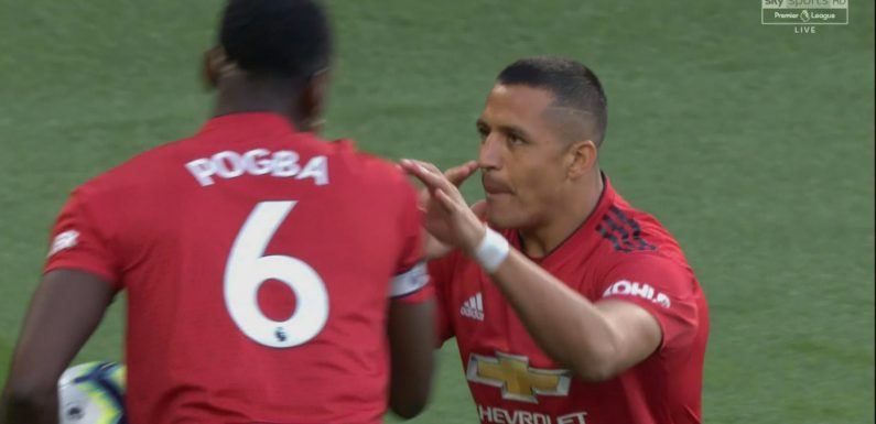 Alexis Sanchez and Paul Pogba argue over taking Manchester United penalty