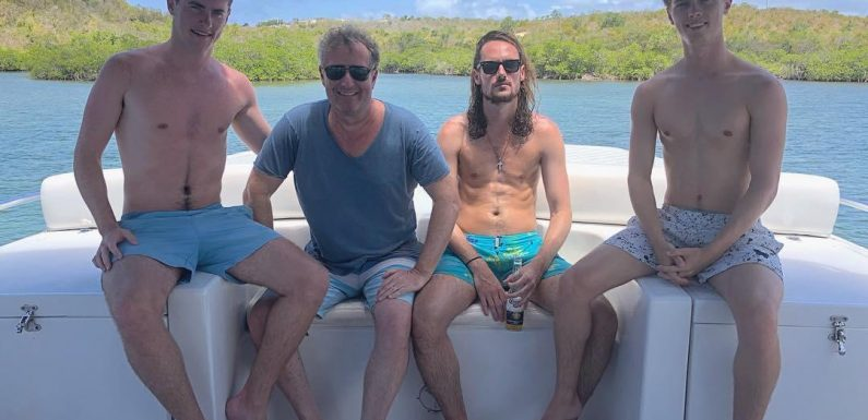 Inside Piers Morgan's luxury holiday in Antigua with his sons