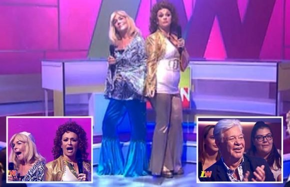 Loose Women panel dress up as ABBA as they recreate Stars In Their Eyes for an 'unrecognisable' Matthew Kelly