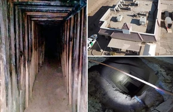 600ft-long drug smuggling tunnel found linking kitchen of old KFC restaurant to Mexico bedroom