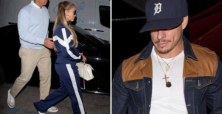 Jennifer Lopez and Alex Rodriguez narrowly avoid an awkward run in as they have dinner at the same restaurant as her ex Casper Smart