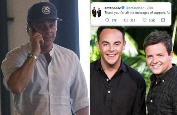 Ant McPartlin thanks fans for support as he breaks silence after announcing he's pulling out of I'm A Celeb and Saturday Night Takeaway