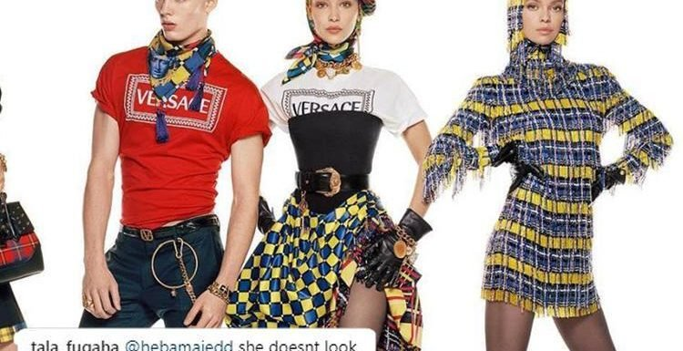 Bella Hadid's fans claim model looks 'unrecognisable' in new Versace campaign due to 'too much editing'