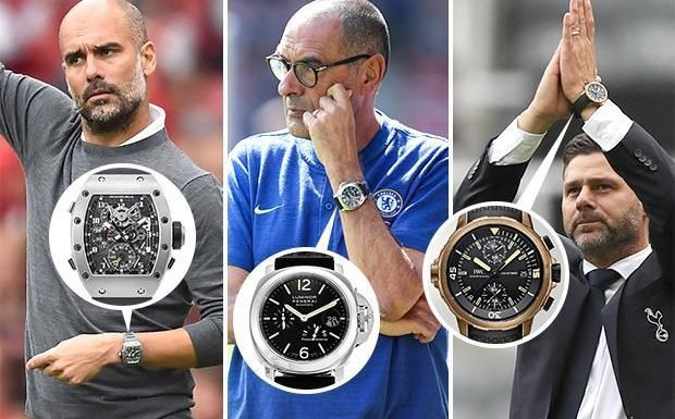 From Pep Guardiola's one of a kind watch to David Wagner's bargain buy, here's the timepieces picked by the Premier League bosses
