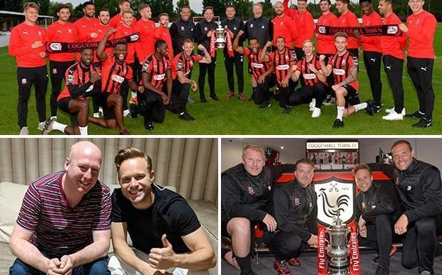 Olly Murs hoping to lead non-league Essex side to Wembley, as Coggeshall Town play in the FA Cup for the first time in their 140-year history
