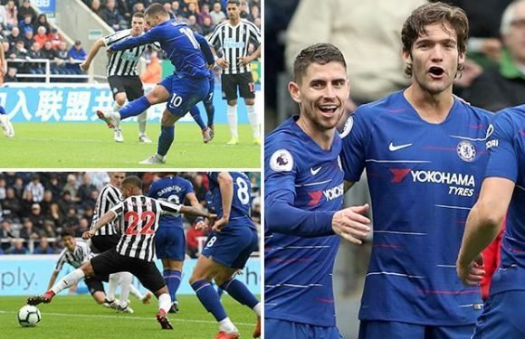 Newcastle 1 Chelsea 2: Marcos Alonso grabs late winner to end Blues' dreadful record at St. James' Park