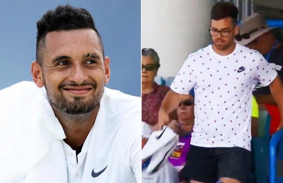 Nick Kyrgios forgets his shoes ahead of Cincinnati Masters match against Denis Kudla… and wins