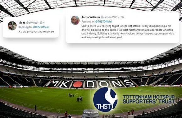 Tottenham fans' backlash at Supporters' Trust call to boycott Carabao Cup clash at MK Dons