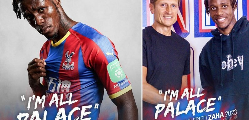 Wilfried Zaha signs new Crystal Palace contract worth £130,000-a-week until 2023