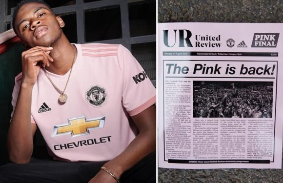 Manchester United reveal pink away kit for 2018-19 in honour of local paper