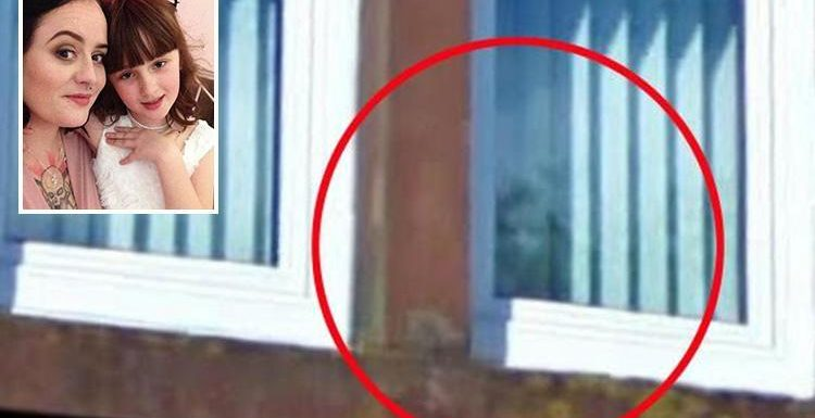 Spooked-out mum 'spots ghost-like face of young boy' in window of their old flat… years after daughter talked of her imaginary friend called 'Johnny'