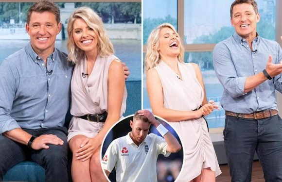 Mollie King is all smiles as she's seen for the first time since split from Stuart Broad as presenter of This Morning with Ben Shephard