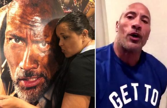 Dwayne Johnson records heartfelt message for funeral of his 'biggest fan' who was killed in horror car crash
