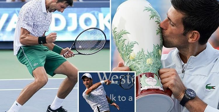 Novak Djokovic overpowers Roger Federer to claim a first Cincinnati Open title and become first player to complete the Masters set
