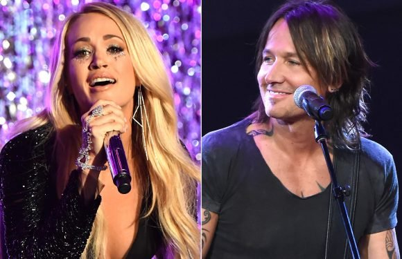 Carrie Underwood Gives Fans a Peek at Her Baby Bump During Surprise Duet with Keith Urban