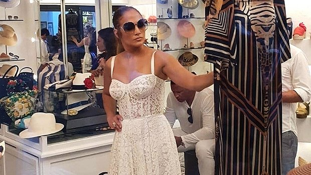 Jennifer Lopez Rocks Sexy White Lace Dress In Italy & More Stars Wearing White — PICS