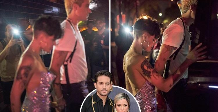 G-Eazy and Halsey back together as they leave the VMAs holding hands