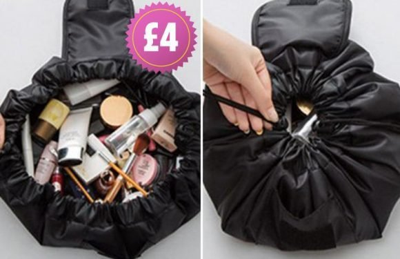Carry round the contents of your entire beauty collection with this magic £4 make-up bag