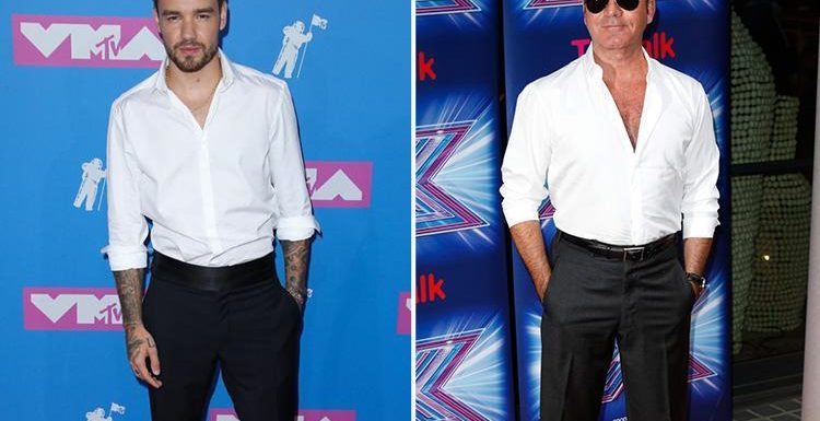 Liam Payne takes style tips from Simon Cowell in high waist trousers at the MTV VMAs