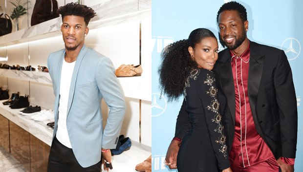 Dwyane Wade Catches Jimmy Butler Flirting With Gabrielle Union & Fires Back In The Best Way