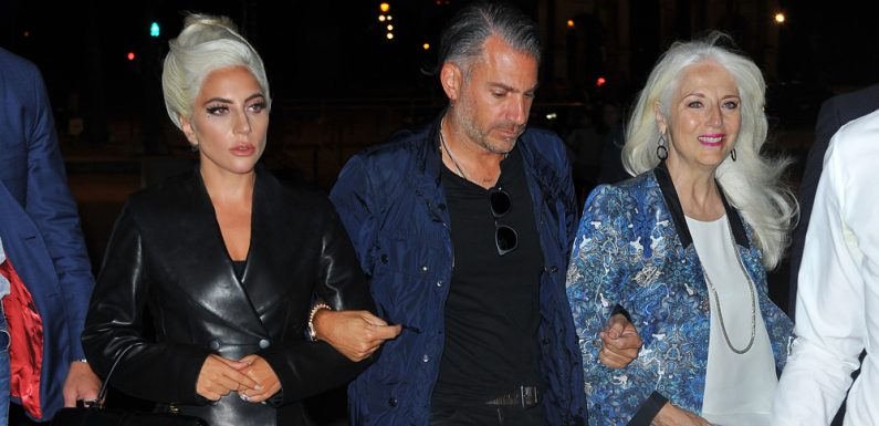 Lady Gaga Visits The Louvre With Boyfriend Christian Carino & Her Mom!