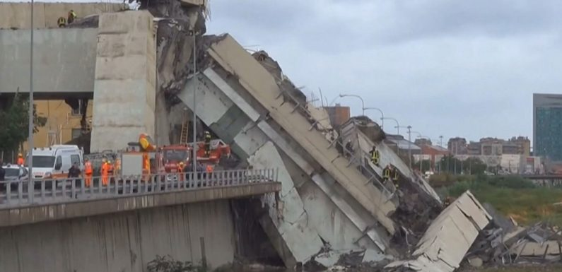 Multiple dead after highway bridge collapses in Italy