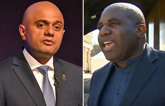 Sajid Javid tweets at David Lammy to drop 'party political games' as Labour oversaw half of Windrush immigrants being wrongly locked up
