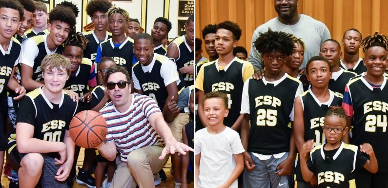 Shaq, Jimmy Fallon surprise students at 'Killer Bees' screening