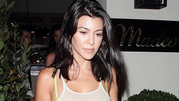 Kourtney Kardashian Revenges Dresses In See-Through Top On Night Out After Younes Split — See Pics