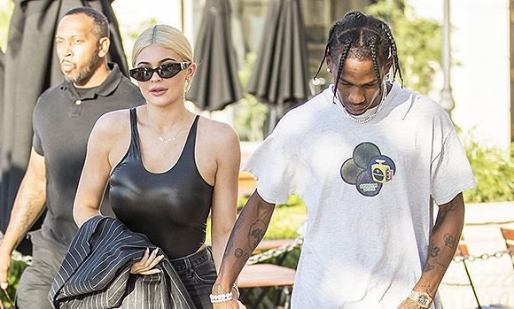 Kylie Jenner Sizzles In Latex Bodysuit While Holding Hands With Travis Scott — PDA Pics