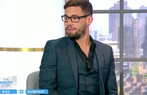 Andrew Brady's appearance on The Wright Stuff gets awkward as he dodges questions about Caroline Flack
